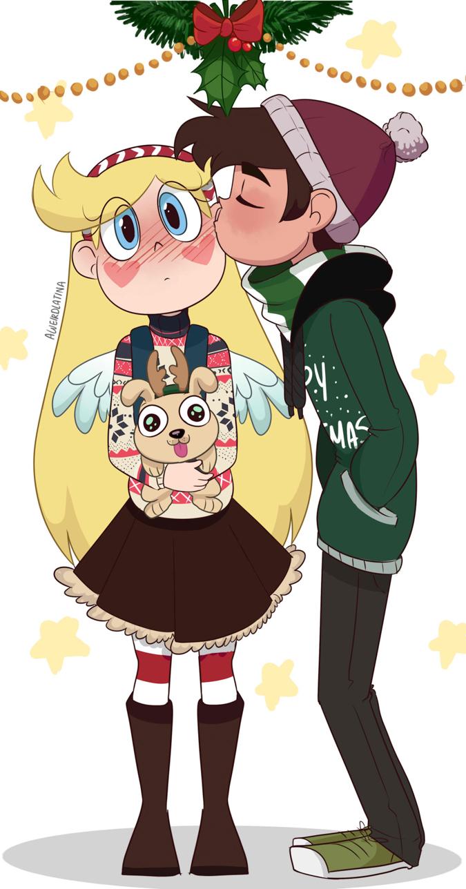Новогодний поцелуй Звёздочки и Марко