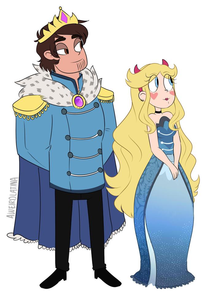 Взрослые Звёздочка и Марко - король и королева Мьюни