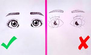 Как рисовать глаза: Основные ошибки и как их избежать