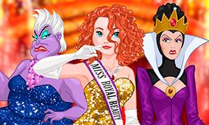Игра для девочек: Мерида против Злодеек Дисней на конкурсе красоты