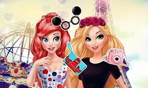 Игра Дисней Принцессы: Ариэль и Рапунцель в Париже