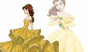 Дизайнерский взгляд на платья Дисней Принцесс