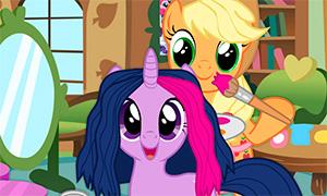 Игра для девочек: Парикмахерская для пони