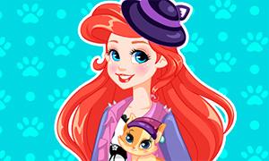 Игра: Макияж для Ариэль и  её котенка