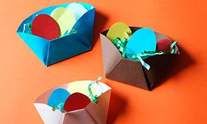 Поделки на Пасху: Бумажная корзинка своими руками