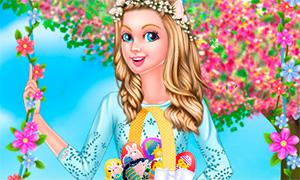 Игра для девочек: Одевалка на Пасху