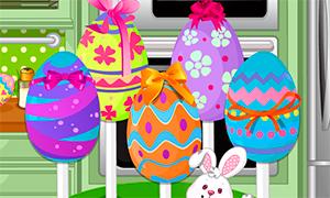 Игра для девочек: Тортики в виде пасхальных яиц