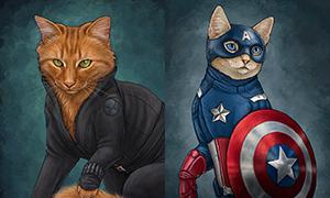 Кошки - Мстители и другие супер герои Марвел