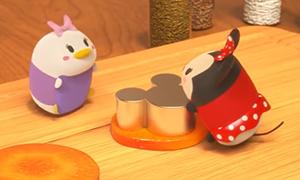 Игрушки Tsum Tsum готовят еду