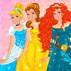 Игра для девочек: Барби и стиль Дисней Принцесс