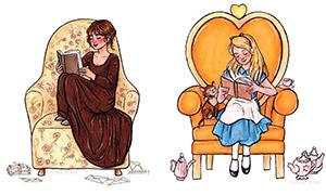 Героини книг и мультфильмов, которые очень любят читать