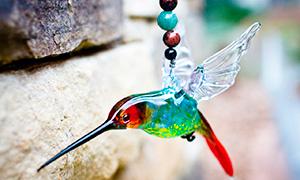 Колибри и другие птицы из стекла