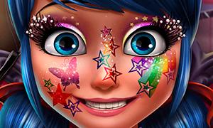 Игра для девочек: Блестящий макияж для Леди Баг