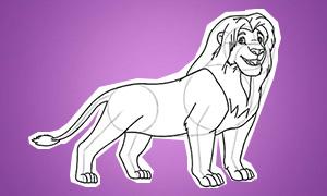 Как нарисовать взрослого Симбу из Короля Льва