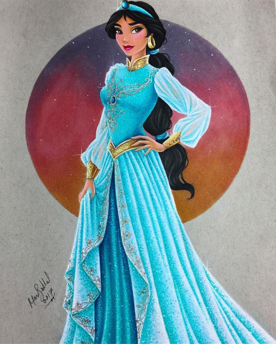 Disney Princess Gallery Slideshow: Шедевральные портреты Дисней Принцесс, нарисованные