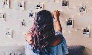 Идея декора комнаты: Гирлянда с фотографиями