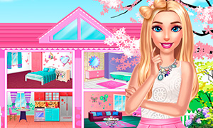 Игра для девочек: Украшаем сразу четыре комнаты