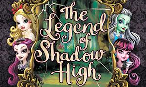 Появилась обложка к книге кроссоверу Монстер Хай и Эвер Афтер Хай - The Legend of Shadow High