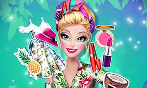 Игра для девочек: Летняя одевалка в тропическом стиле