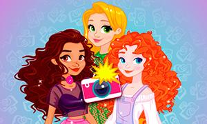 Игра с Моаной, Меридой и Рапунцель: Уличная мода принцесс