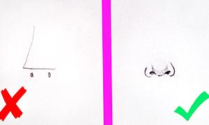 Видео урок: Как рисовать нос