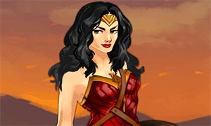 Игра: Одевалка Чудо-Женщиной - принцессы амазонок Дианы