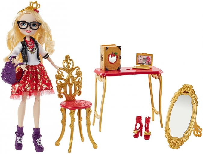 Новая кукла Эппл Вайт: Ever After High Back-To-School Room to Study