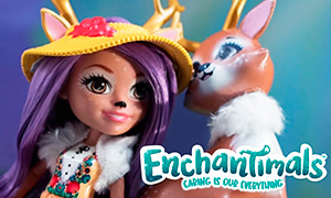 Стоп моушен видео с куклами Энчантималс