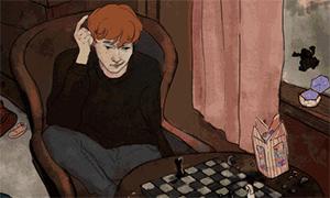 Гарри Поттер: Анимации - герои в комнатах