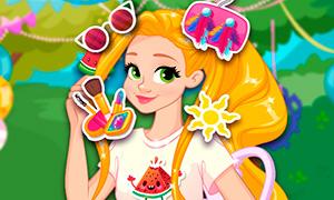 Игра Принцессы: Летняя вечеринка Рапунцель