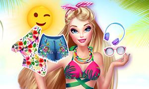Игра для девочек: Готовимся идти на пляж