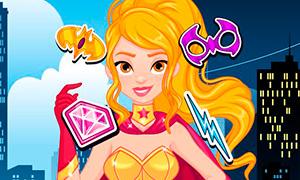 Игра для девочек: Создай свой аватар в стиле супер героини