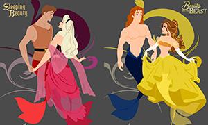 Дисней Принцессы и принцы - русалки