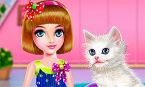 Игра для девочек: Позаботься о котенке
