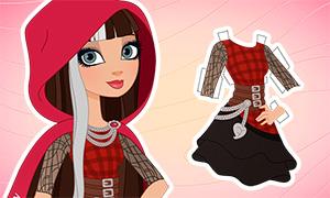 Эвер Афтер Хай: Бумажная кукла Чериз Худ с одеждой