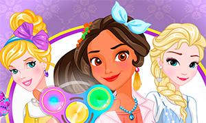 Игра: Дисней Принцессы и спиннеры