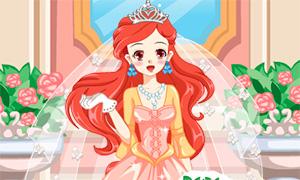 Игра для девочек: Свадьба принцессы Ариэль в аниме стиле