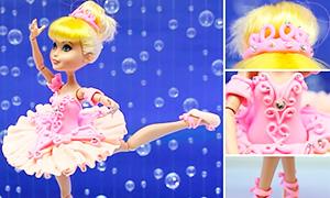 Одежда для кукол из легкого пластилина