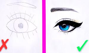 Как рисовать глаза: Основные ошибки и что делать, чтобы их избежать