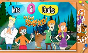 Игра: Раскрась и создай свою картинку с персонажами Скуби Ду