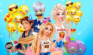 Игра Дисней Принцессы: Праздник в стиле Эмоджи