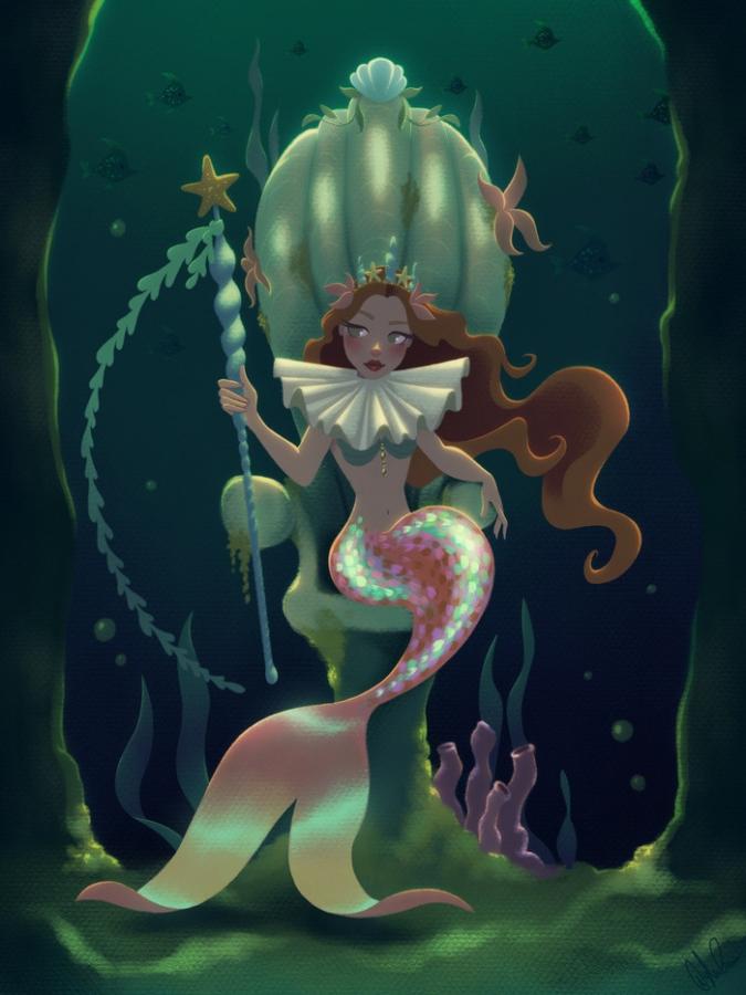 Картинки аниме девушек русалок