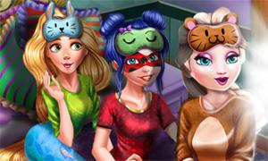 Веселая пижамная вечеринка принцесс
