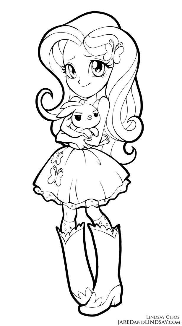 at the gala fluttershy coloring pages | Красивые раскраски с Девочками Эквестрии - YouLoveIt.ru