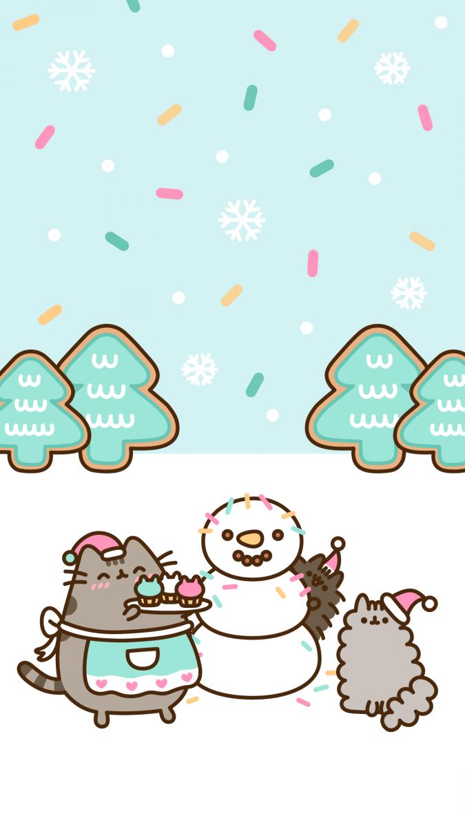 Новогодние обои на телефон с котом Пушином - YouLoveIt.ru Забавные Игры Фильм