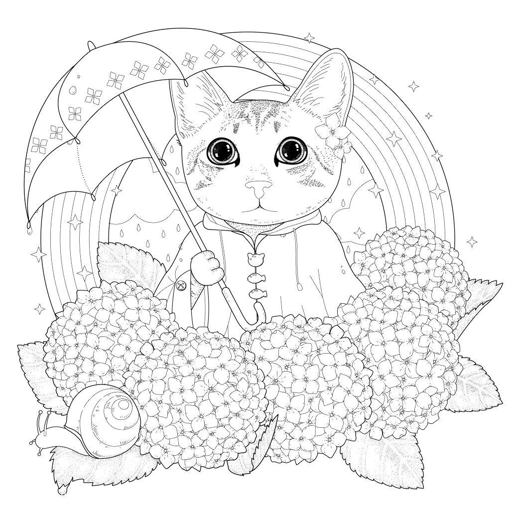Раскраски антистресс с кошками - YouLoveIt.ru