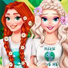 Игра: Эльза, Анна и Золушка заботятся о Земле и спасают ее от мусора