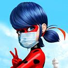 Леди Баг и карантин. Аватарки героев в  медицинских масках и картинки с призывом быть героями.