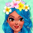 Игра: Весенний салон красоты с макияжем, одевалкой и короной из цветов
