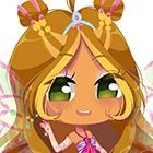 Картинки супер милых чибиков Флоры в разной одежде из 3 сезона Винкс